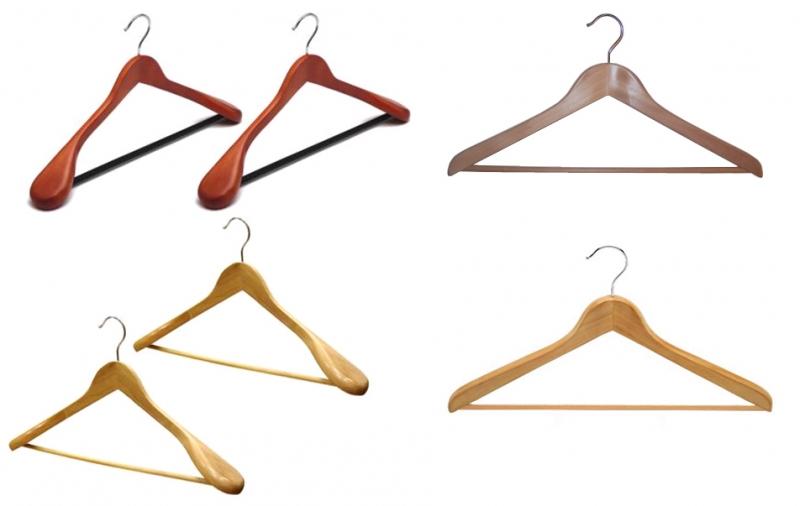 Деревянные плечики для одежды